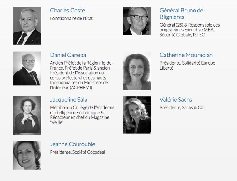 Les membres du Jury Trophée IES 2016 Cercle K2