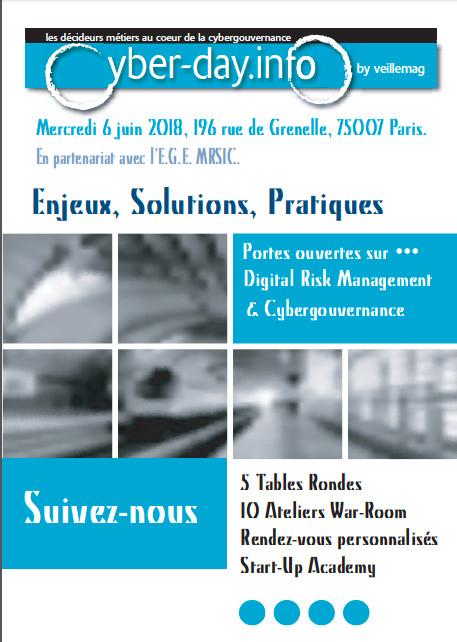 #cyberdayinfo. Digital Risk Management et Cybergouvernance. 6 juin 2018. Inscriptions et Contributions ouvertes