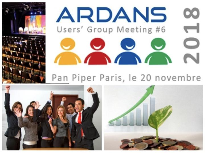 Mardi 20 nov. Inscriptions c'est maintenant. Augm 2018 #6 : Ardans Users' Group Meeting