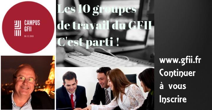 Un nouveau GFII ouvrent 10 groupes de travail