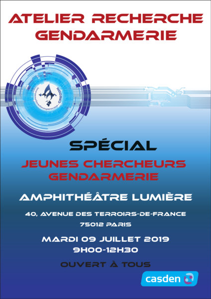 Agenda : Atelier Recherche Gendarmerie le 9 Juillet 2019