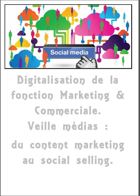 Jeudi 30 mars. 11h. Digitalisation de la fonction Marketing & Commerciale. Veille médias : du content marketing au social selling.