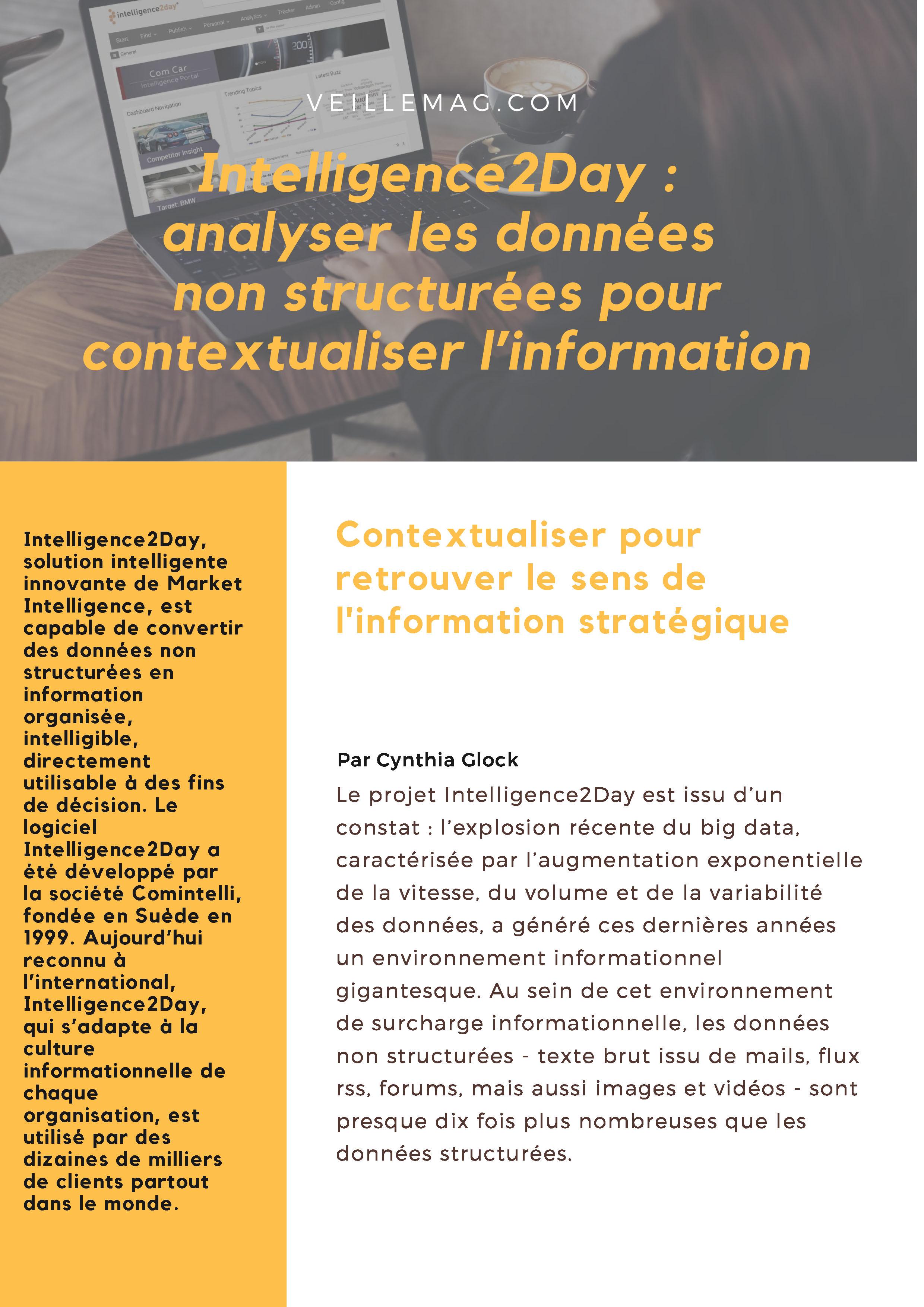 AVIS D'EXPERT. LA VEILLE NÉCESSITE LE TRAITEMENT DE L'INFORMATION CONTEXTUALISÉE. Alain Beauvieux.