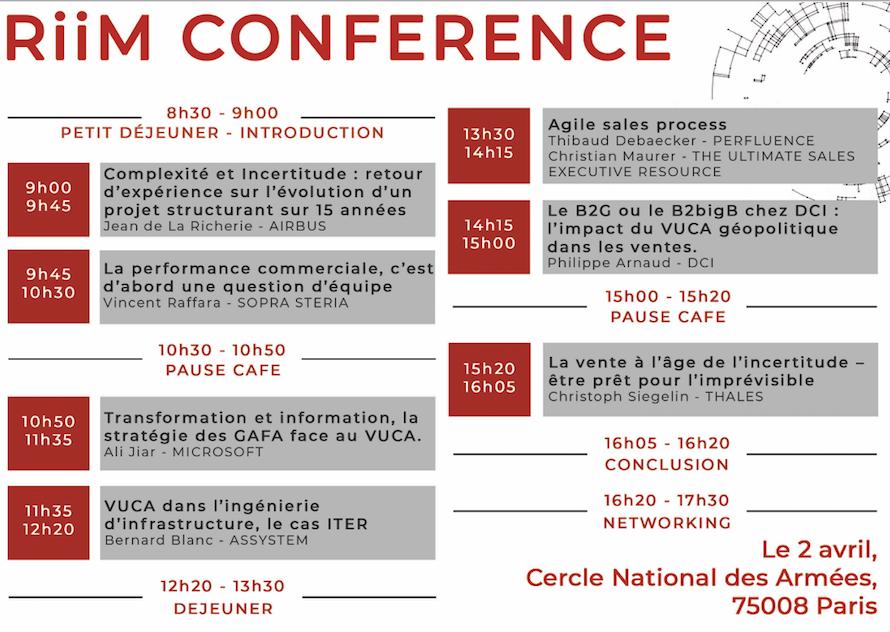 Thales, Microsoft ou encore Airbus, découvrez le programme de la RiiM Conférence