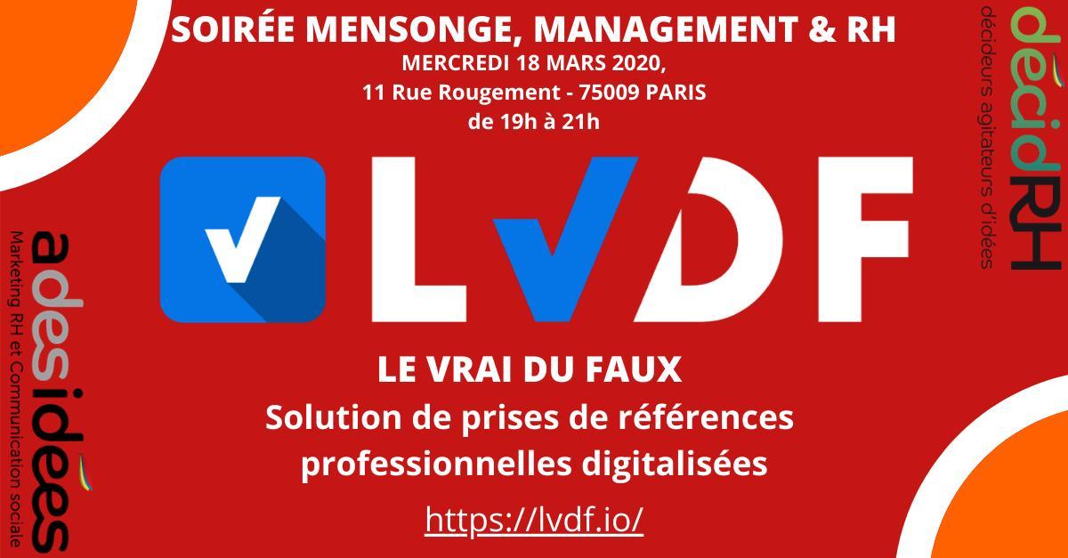 Mensonge, Management et Ressources Humaines » se déroulera le mercredi 18 mars 2020