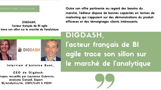 DIGDASH, l'acteur français de BI agile  trace son sillon sur le marché de l'analytique