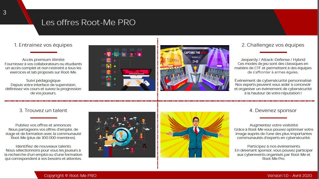 Cybersécurité et formation en ligne. Allier la théorie à la pratique. Pari réussi pour Root-Me Pro ! Offre spéciale Rentrée 2020.