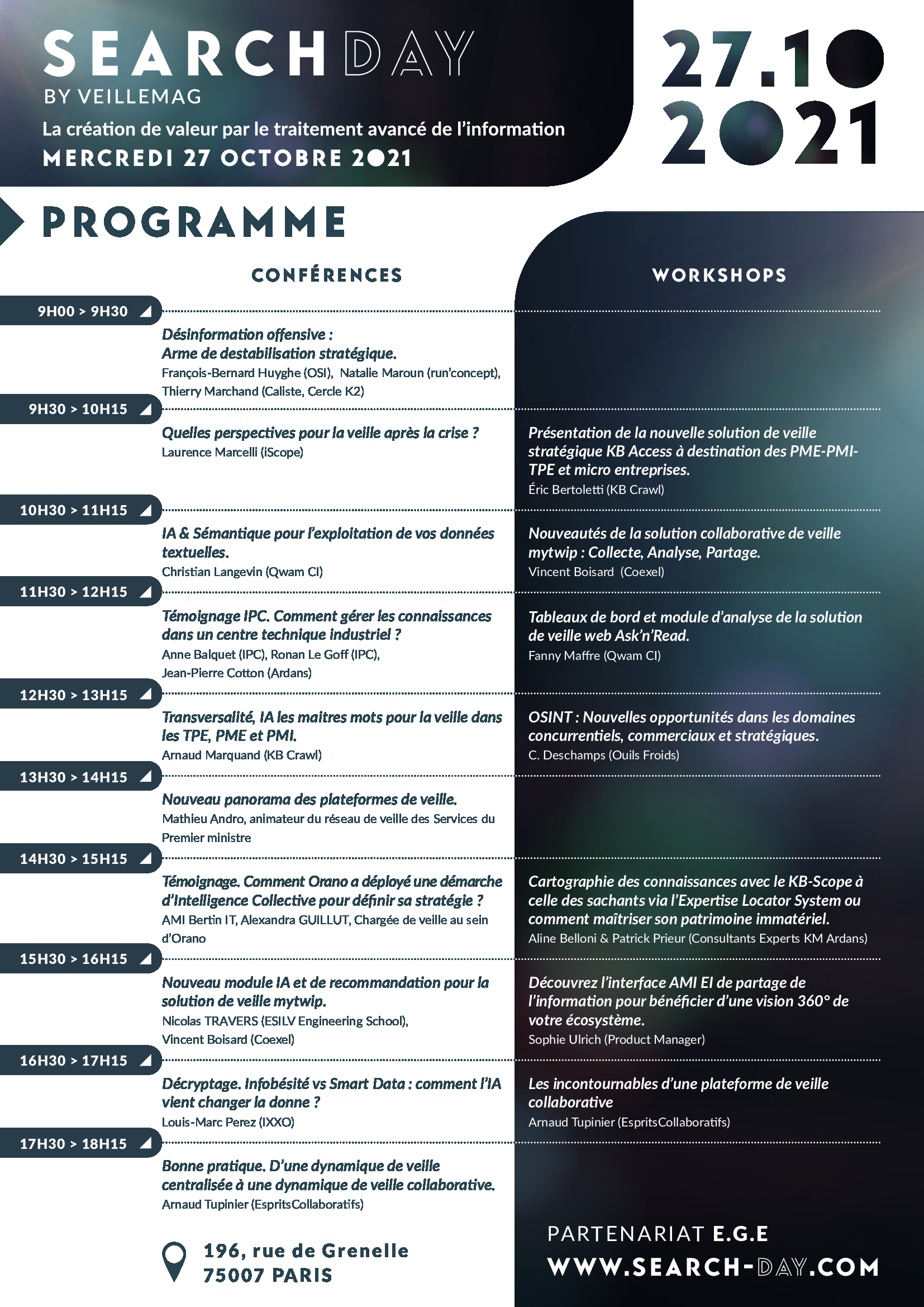 Consulter le programme