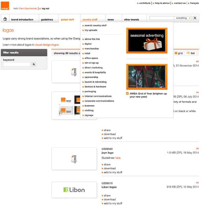 La plateforme de marque d'Orange ; un modèle du genre, hélas déconnecté des workflows, des CMS et des sites